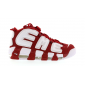 Air More Uptempo White Varsity Red Outline